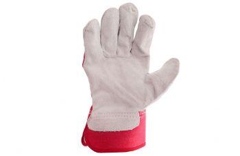 Перчатки Intertool - замшевые комбинированные плотные 27 см х 10,5