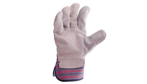 Перчатки Mastertool - замшевые комбинированные, цельная ладонь 10,5