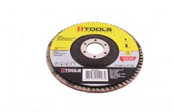 Круг лепестковый торцевой Housetools - 125 мм, Р100 прямой
