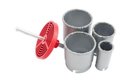 Набор корончатых сверл по плитке Intertool - 4 шт. (33, 53, 67, 73 мм), 059141
