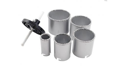 Набор корончатых сверл по плитке Miol - 5 шт. (33, 53, 67, 73, 83 мм), 059349