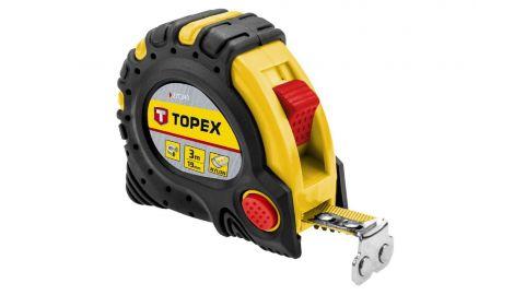 Рулетка Topex - 3 м х 19 мм, супер-магнит, 080622
