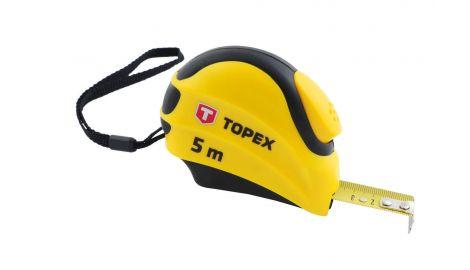 Рулетка Topex - 5 м х 19 мм, автостоп, 080632