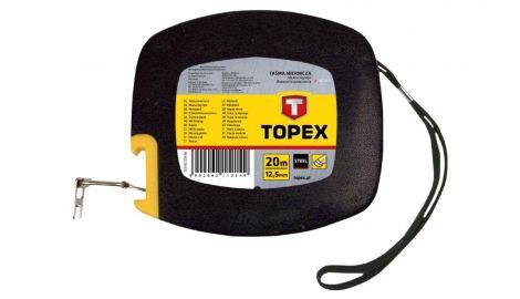 Рулетка Topex - 20 м х 12,5 мм, бобина, металлическая, 080651