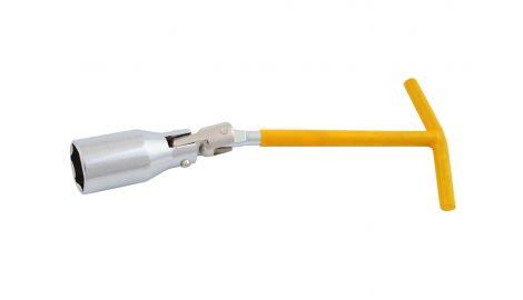 Ключ свечной Т-образный с шарниром Intertool - 21 мм, 135154