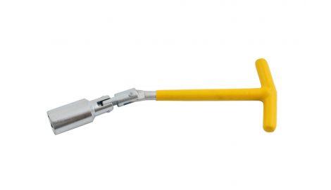 Ключ свечной Т-образный с шарниром Intertool - 21 х 250 мм, 135155