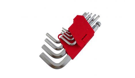 Набор шестигранных ключей Intertool - 9 шт., с шаром, 138147