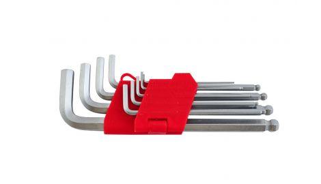 Набор шестигранных ключей Intertool - 9 шт., с шаром удлиненные, 138148