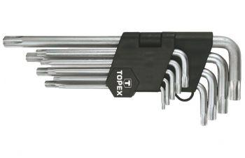 Набор Torx ключей Topex - 9 шт., удлиненные