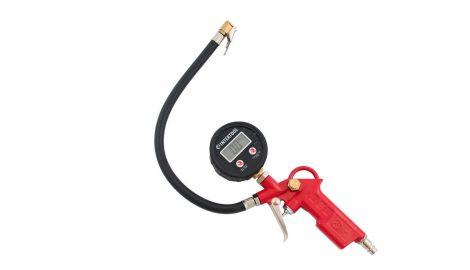 Пневмопистолет для подкачки колес Intertool - 10 bar, с цифровым манометром, 160105