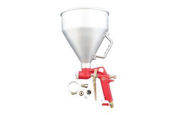 Пневмопистолет для нанесения цемента Intertool - металлический бак 6 л, d=4, 6, 8 мм