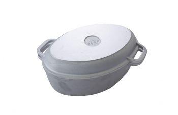 Гусятница алюминиевая Биол - 2,5 л, с утолщенным дном и крышкой-грилем