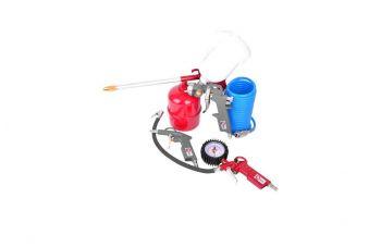 Набор лакокрасочный Intertool - верхний бак 600 мл, шланг полиуретановый (5 шт.)