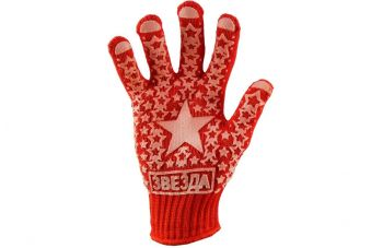 Перчатки PRC - Звезда красная плотные 10