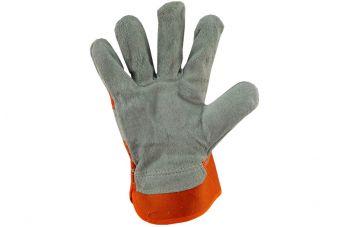 Перчатки PRC - замшевые комбинированные, цельная ладонь 10,5