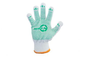 Перчатки Intertool - 70/30 с точкой 68г белые 9