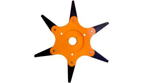 Диск для триммера Асеса - 255 x 25,4 мм х 6Т, сегментный, 209726