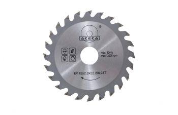 Диск пильный Aceca - 115 x 22,2 мм x 24T