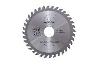 Диск пильный Aceca - 115 x 22,2 мм x 36T
