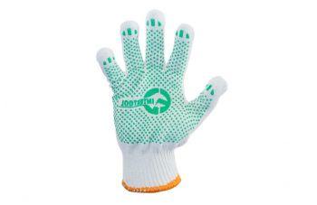 Перчатки Intertool - 60/40 с точкой 90г белые 10
