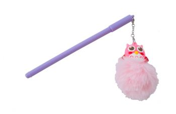 Ручка гелевая подарочная Elite - сова с мехом EL-10983